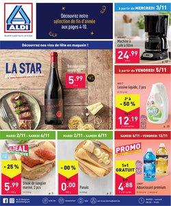 Promos de Supermarchés dans le dépliant à Aldi ( Publié hier)