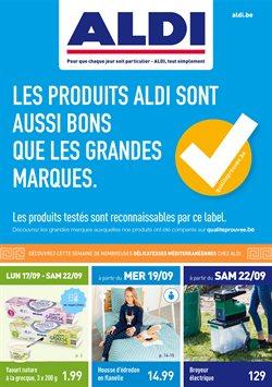 Promos de Supermarchés dans le dépliant de Aldi à Mons