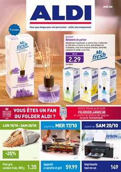Promos de Supermarchés dans le dépliant de Aldi à Bruxelles
