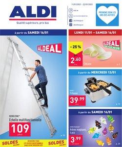 Promos de Supermarchés dans le prospectus de Aldi à Bruxelles ( 4 jours de plus )