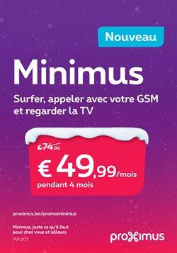 Promos de Electroménager et Multimédia dans le dépliant de Proximus à Bruxelles