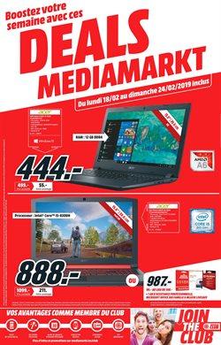 Promos de Media Markt dans le dépliant à Bruxelles