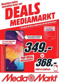Promos de Electroménager et Multimédia dans le dépliant de Media Markt à Bruges