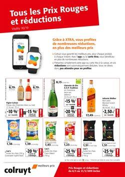 Promos de Supermarchés dans le dépliant de Colruyt à Bruxelles