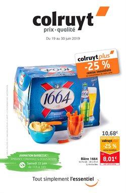 Promos de Supermarchés dans le dépliant de Colruyt à Louvain