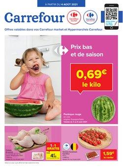 Promos de Supermarchés dans le dépliant à Carrefour ( 4 jours de plus)
