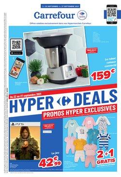 Promos de Supermarchés dans le dépliant à Carrefour ( Publié hier)
