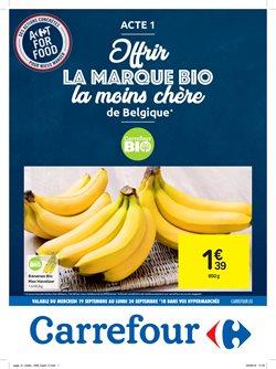 Promos de Supermarchés dans le dépliant de Carrefour à Mons