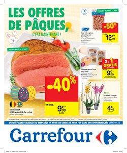 Promos de Supermarchés dans le dépliant de Carrefour à Liège
