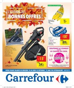 Promos de Supermarchés dans le dépliant de Carrefour à Dilbeek