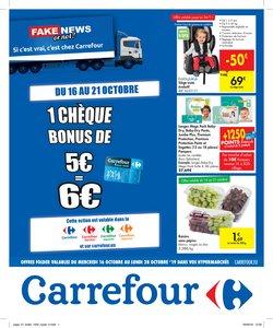 Promos de Supermarchés dans le dépliant de Carrefour à Grimbergen