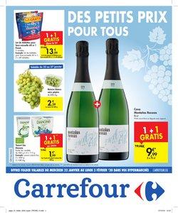 Promos de Supermarchés dans le dépliant de Carrefour à Bruxelles