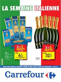 Promos de Supermarchés dans le prospectus de Carrefour à Liège ( Publié hier )