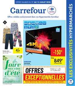 Promos de Supermarchés dans le prospectus à Carrefour ( Publié hier )
