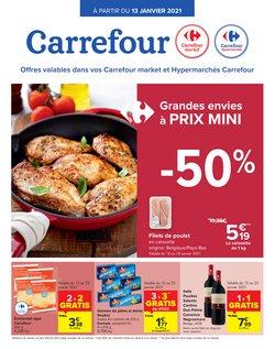 Promos de Supermarchés dans le prospectus de Carrefour à Bruxelles ( Expire aujourd'hui )