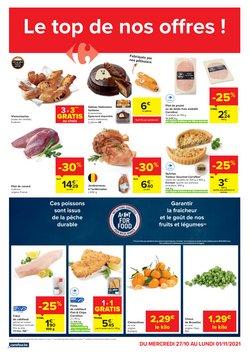 Promos de Supermarchés dans le dépliant à Carrefour Market ( Publié hier)
