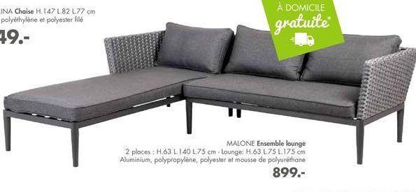 MALONE Ensemble lounge offre à 899€