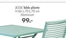 JESSE Table pliante offre à 99€