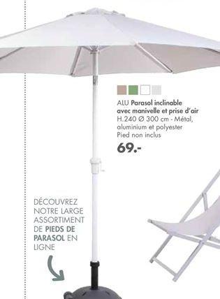 ALU Parasol offre à 69€