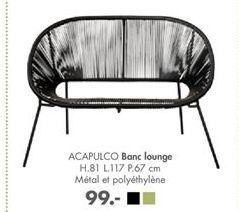 ACAPULCO Banc lounge offre à 99€