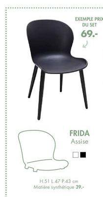 FRIDA Chaise offre à 69€