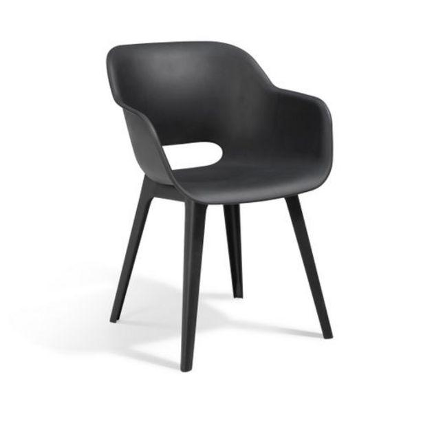 Chaise de jardin Allibert Akola graphite 1pièce offre à 34,49€
