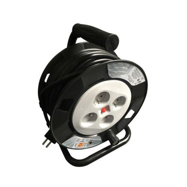 Enrouleur de câble Sencys H05VV-F 25m 3G1.5 noir+gris clair IP20 offre à 29,99€