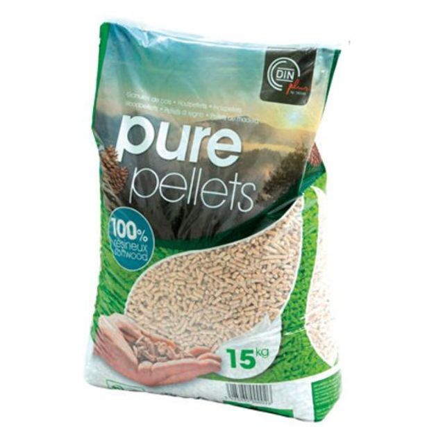Pellets de bois 'Din Plus' Pure Pellets 15kg offre à 4,69€