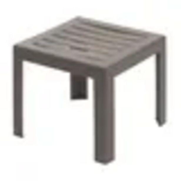 Table basse de jardin Grosfillex Miami PVC 40x40cm taupe offre à 16,99€