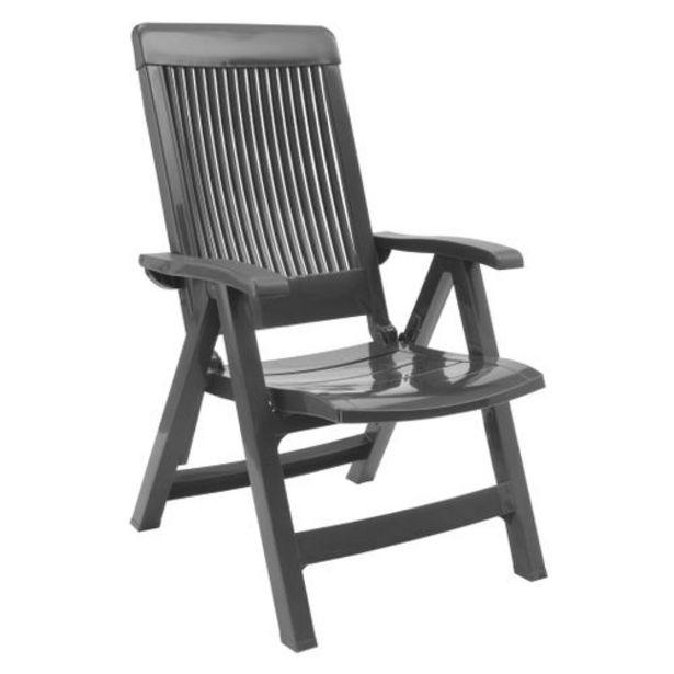 Chaise de jardin à dossier réglable Grosfillex Fidji résine PVC lin offre à 49,99€