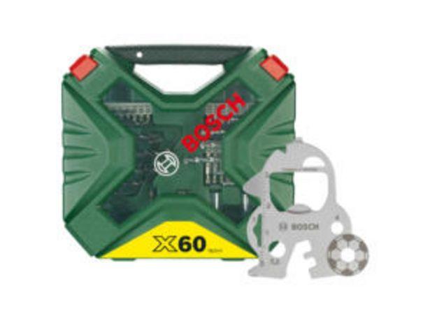 Bosch X-Line coffret de mèches et d'embouts set de 60 + accessoire offre à 17,99€