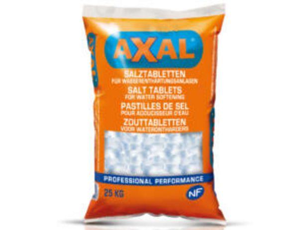 Axal pastilles de sel pour adoucisseur d'eau 25kg offre à 8,99€