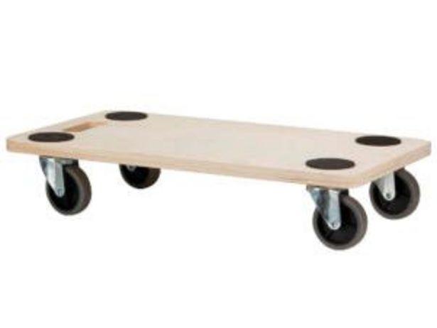 Plateau roulant 56x30 cm 200kg offre à 9,99€