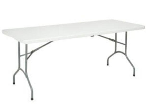 Garden Plus Table pliante 180x74 cm blanc offre à 45,99€