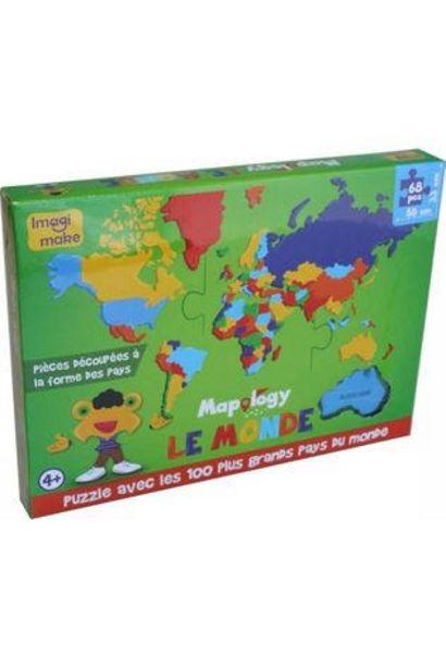 IMAGI MAKE Monde Les Plus Grands Pays (Fr) Foam Puzzle offre à 10,95€
