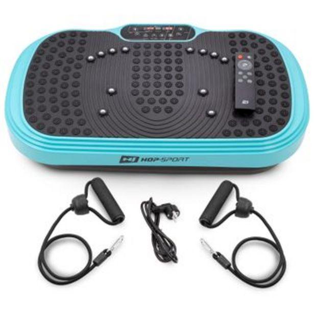 Hs Hop Sport - Fitness HS HOP-SPORT Plateforme vibrante HS-040VS Cube Turquoise   Télécommande   Plaque antidérapante avec masseur   Extenseurs offre à 115€