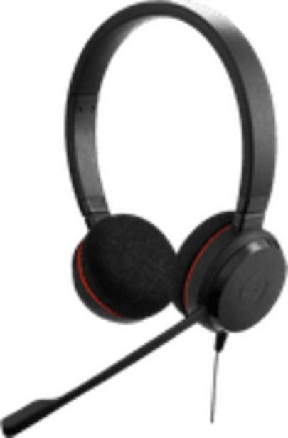Jabra Evolve 20 UC Casque de bureau Stéréo Filaire offre à 54€