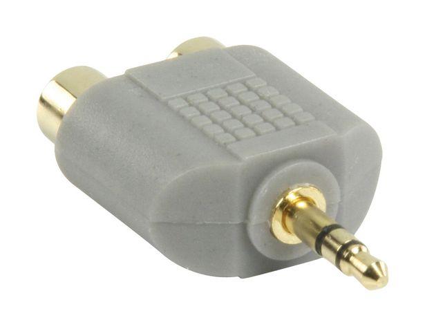 Bandridge BAP432 Jack Stereo Male 3.5mm 2x RCA Female Noir adaptateur et connecteur de câbles offre à 3,95€