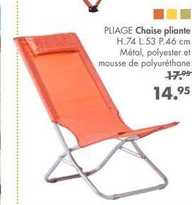 PLIAGE Chaise pliante offre à 14,95€