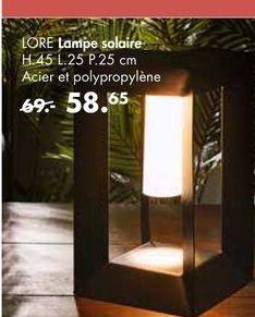LORE Lampe solaire offre à 58,65€