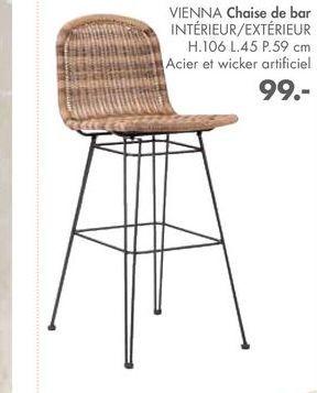 VIENNA Chaise de bar offre à 99€