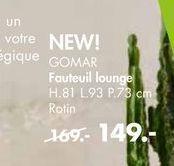 GOMAR Fauteuil lounge offre à 149€