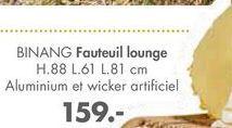 BINANG Fauteuil lounge offre à 159€