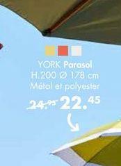 YORK Parasol offre à 22,45€
