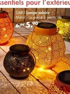 SARU Lampe solaire offre à 5,9€