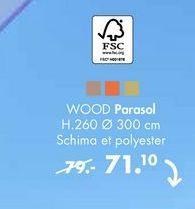 WOOD Parasol offre à 71,1€