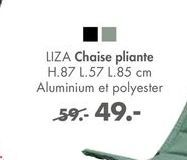 LIZA CHaise plienate offre à 49€