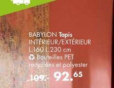BABYLON Tapis offre à 92,65€