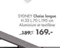 SYDNEY Chaise longue offre à 169€