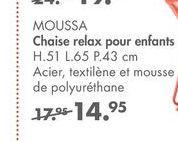 MOUSSA Chaise relax pour enfants offre à 14,95€